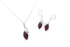 Cherry Amber Fancy Top Pendant & Earrings Jewellery Set