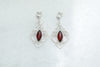 Chandelier Frame Cherry Amber Earrings
