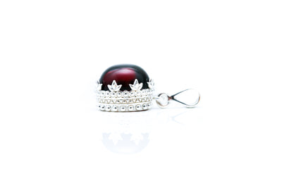 Red Princess Crown Amber Pendant