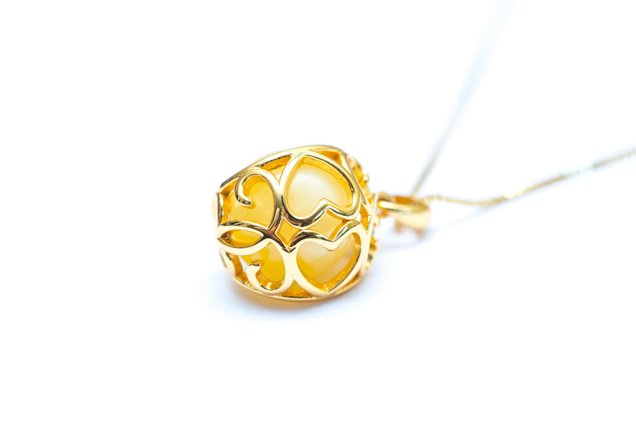 Solstice Filigree Heart Necklace