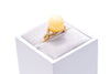 Solstice Yellow Amber Ribbon Ring