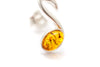 Amber Music Note Stud Earrings
