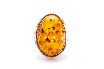 Classic Cocktail Amber Ring