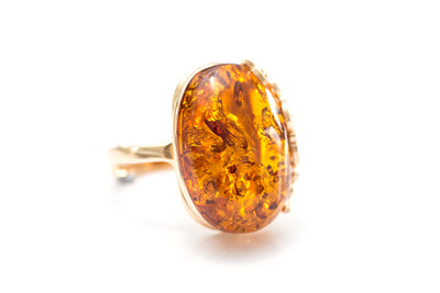 Gold Butterfly Cocktail Ring