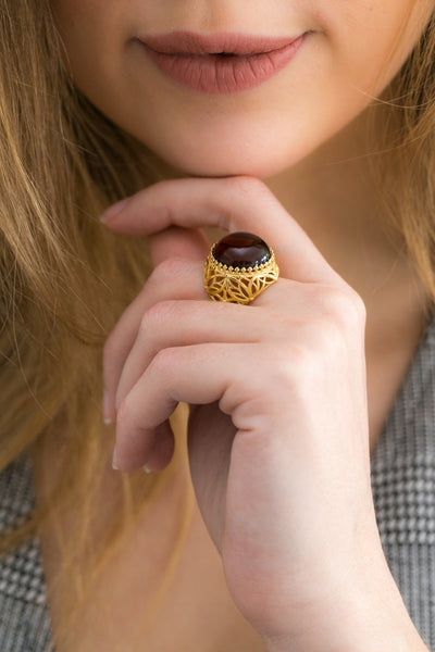 OOAK Gold Filigree Cuff Ring