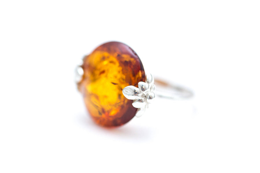Amber Pastille Cocktail Ring
