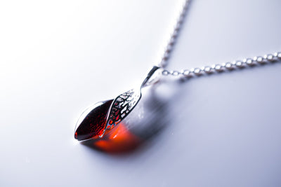 Fancy Top Cherry Amber Pendant