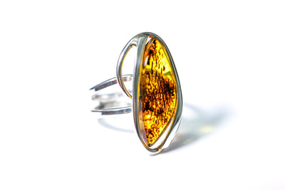 Tiger Stripe Amber Ring