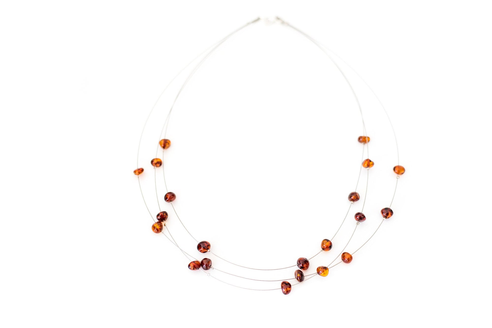 RAW Layered Amber Bead Necklace