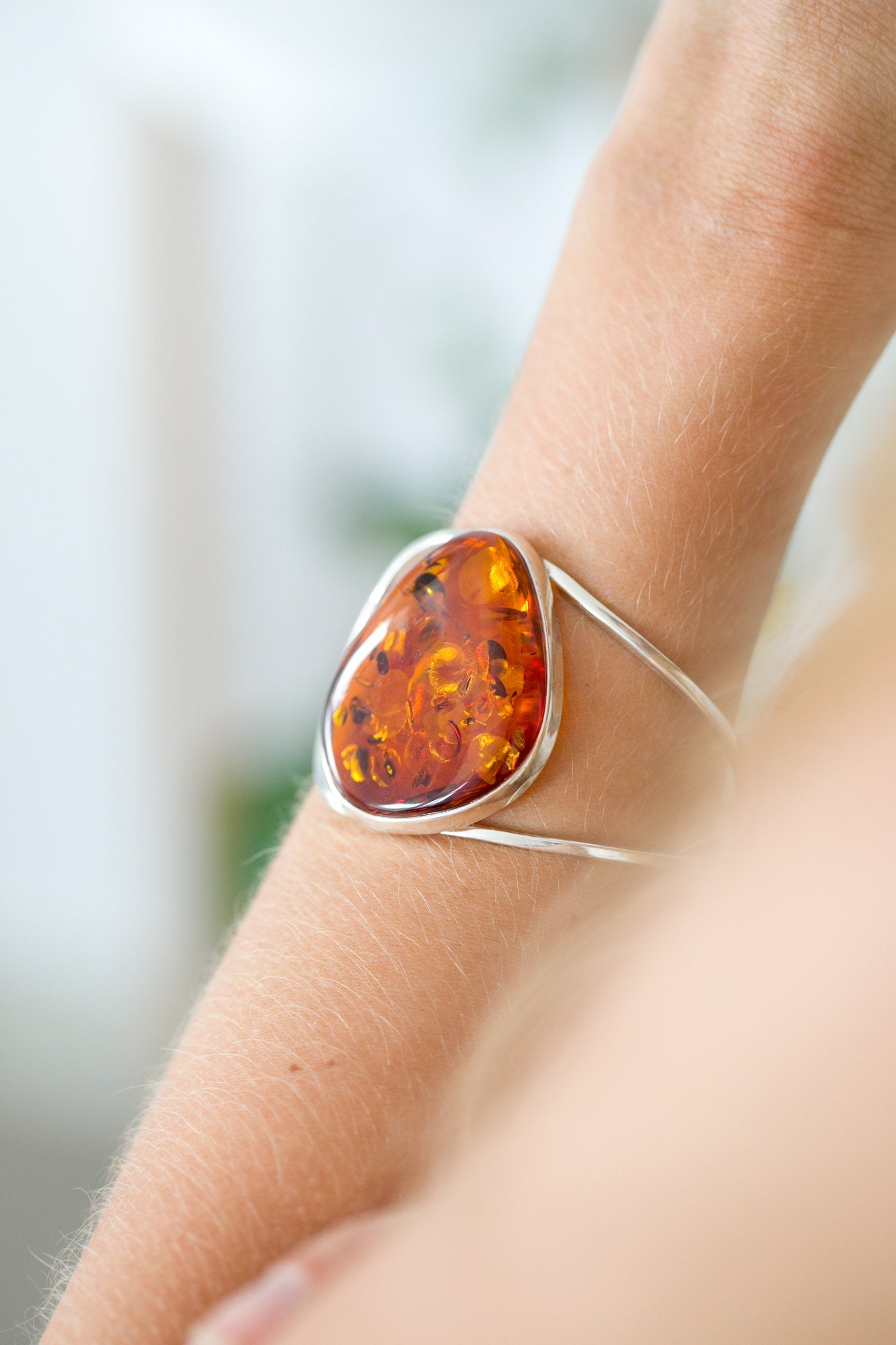 Oversized Amber Arm Cuff