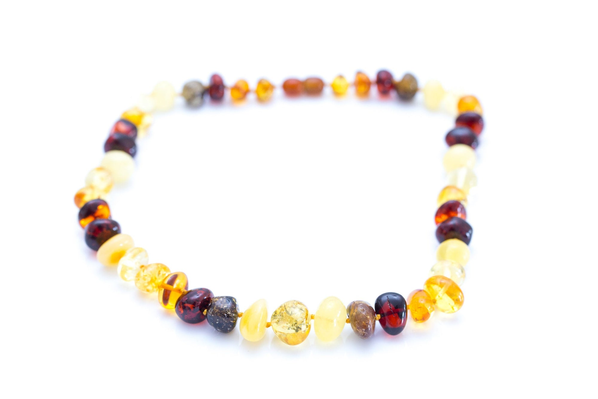 RAW Multicolour Nugget Bead Amber Necklace