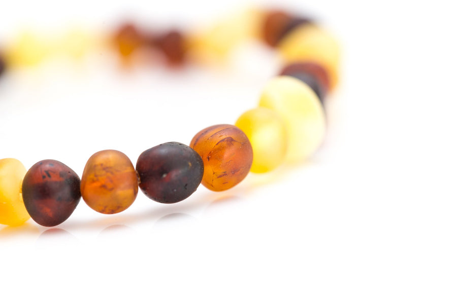 Colourful Amber Potato Bead Bracelet