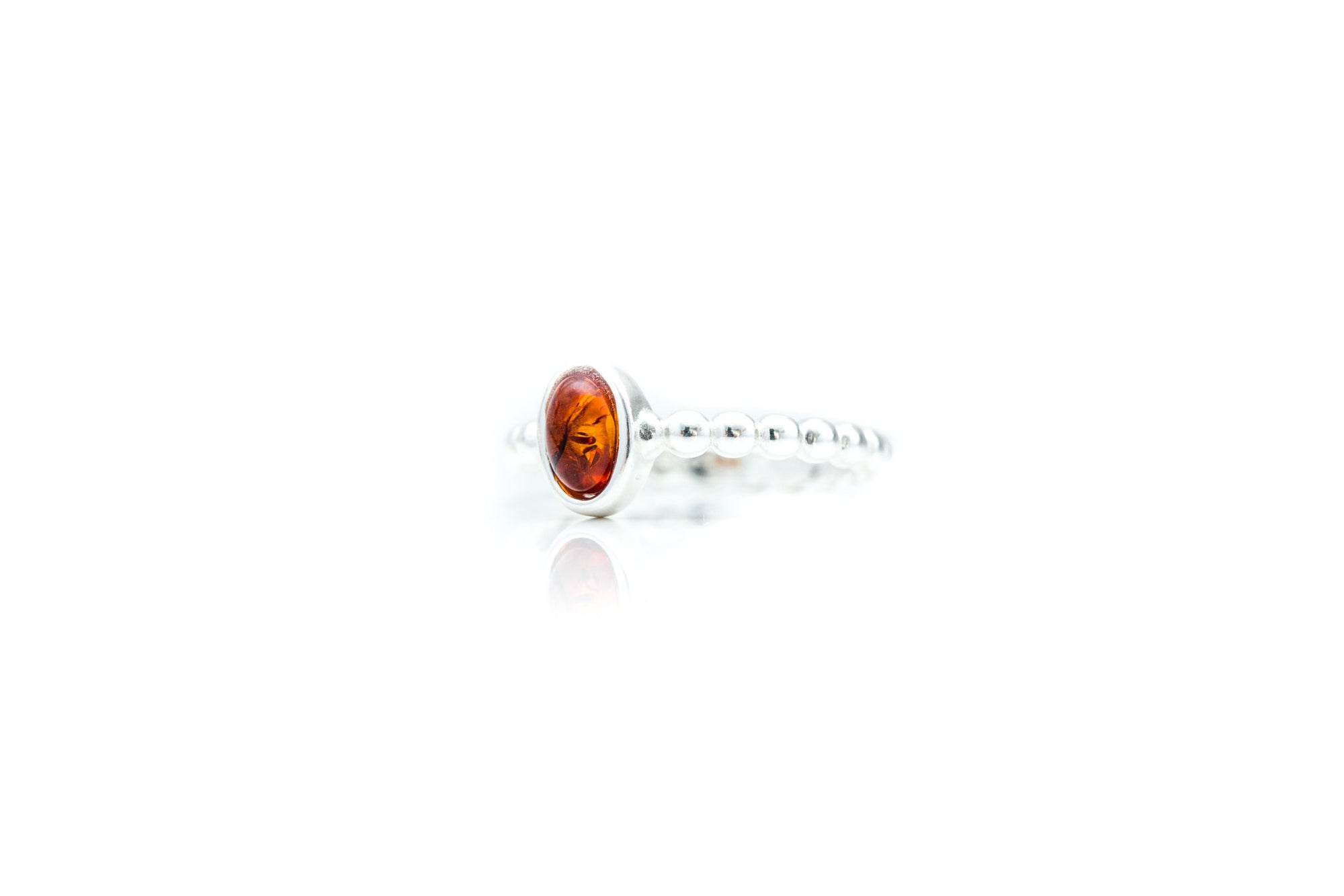 Amber Bubble Stacking Ring
