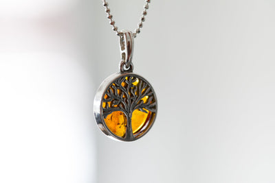 Slice Tree of Life Charm Pendant