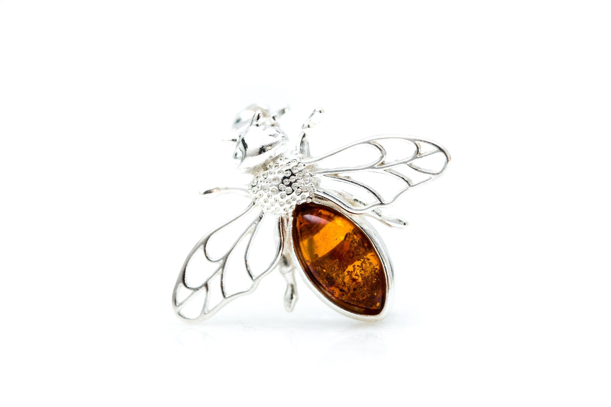 Amber Bee Brooch