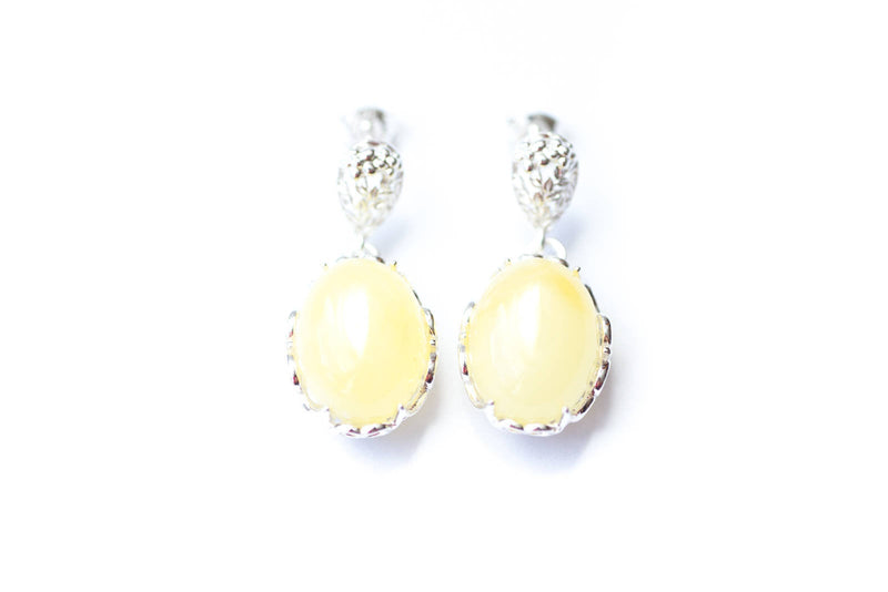Demi Butterscotch Yellow Amber Drop Earrings