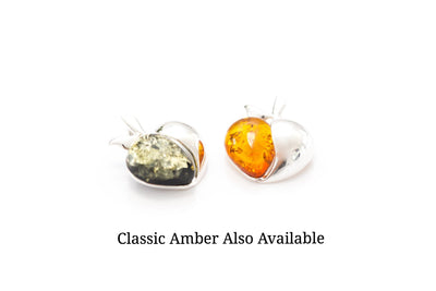 Green Amber Apple Pendant