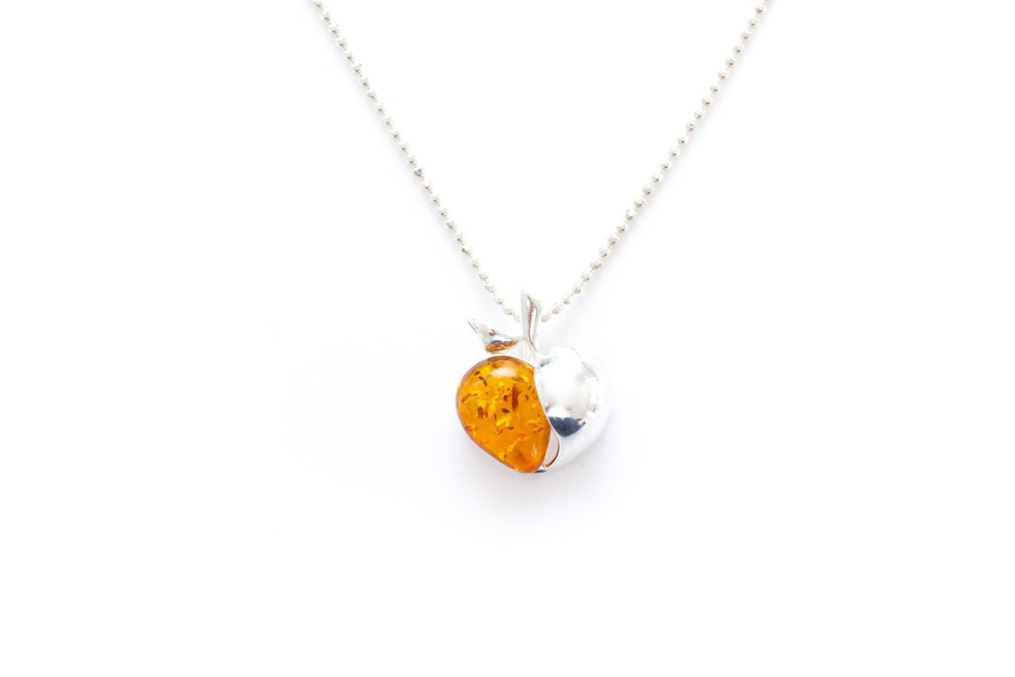 Amber Apple Pendant