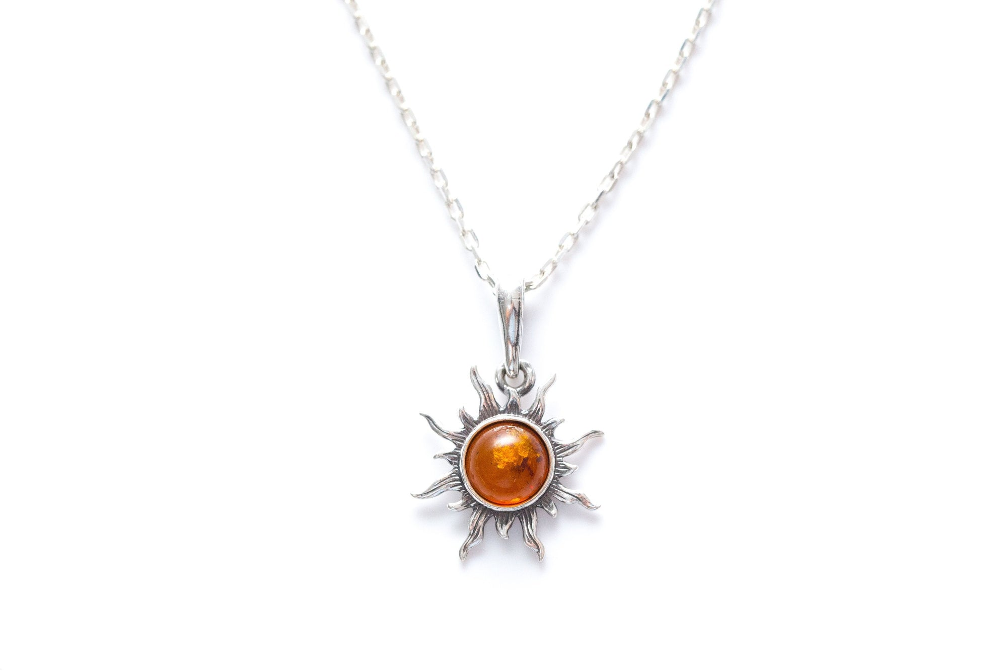 Mini Amber Sun Necklace