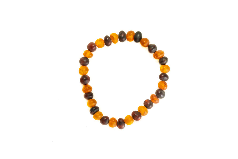 Orange & Cherry Nugget Bead Bracelet