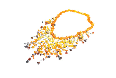 Waterfall Amber Beaded Necklace