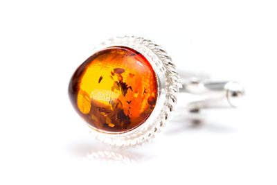 Quintessence Statement Amber Cufflinks