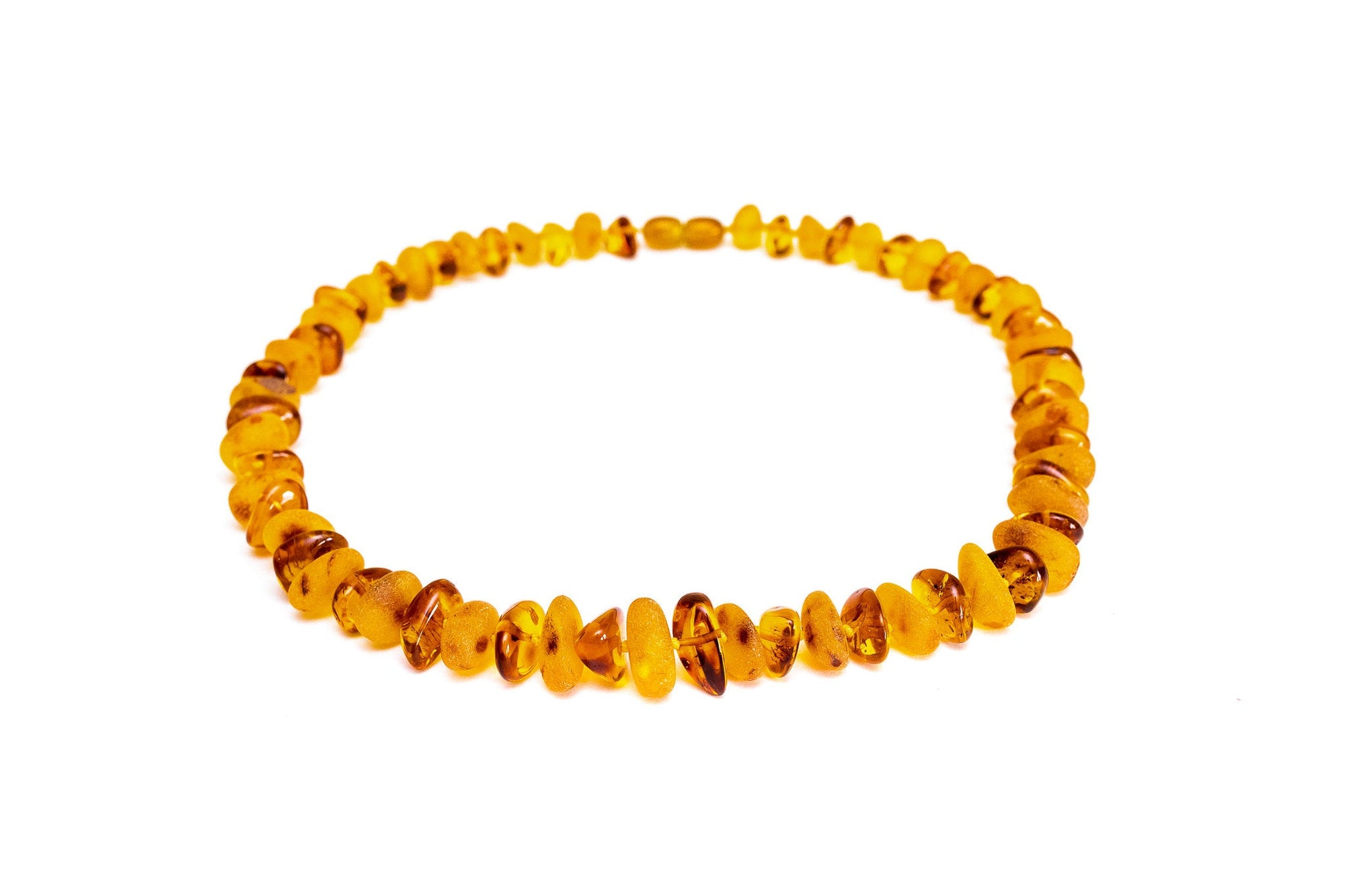 RAW Chunky Alternating Polish Amber Necklace