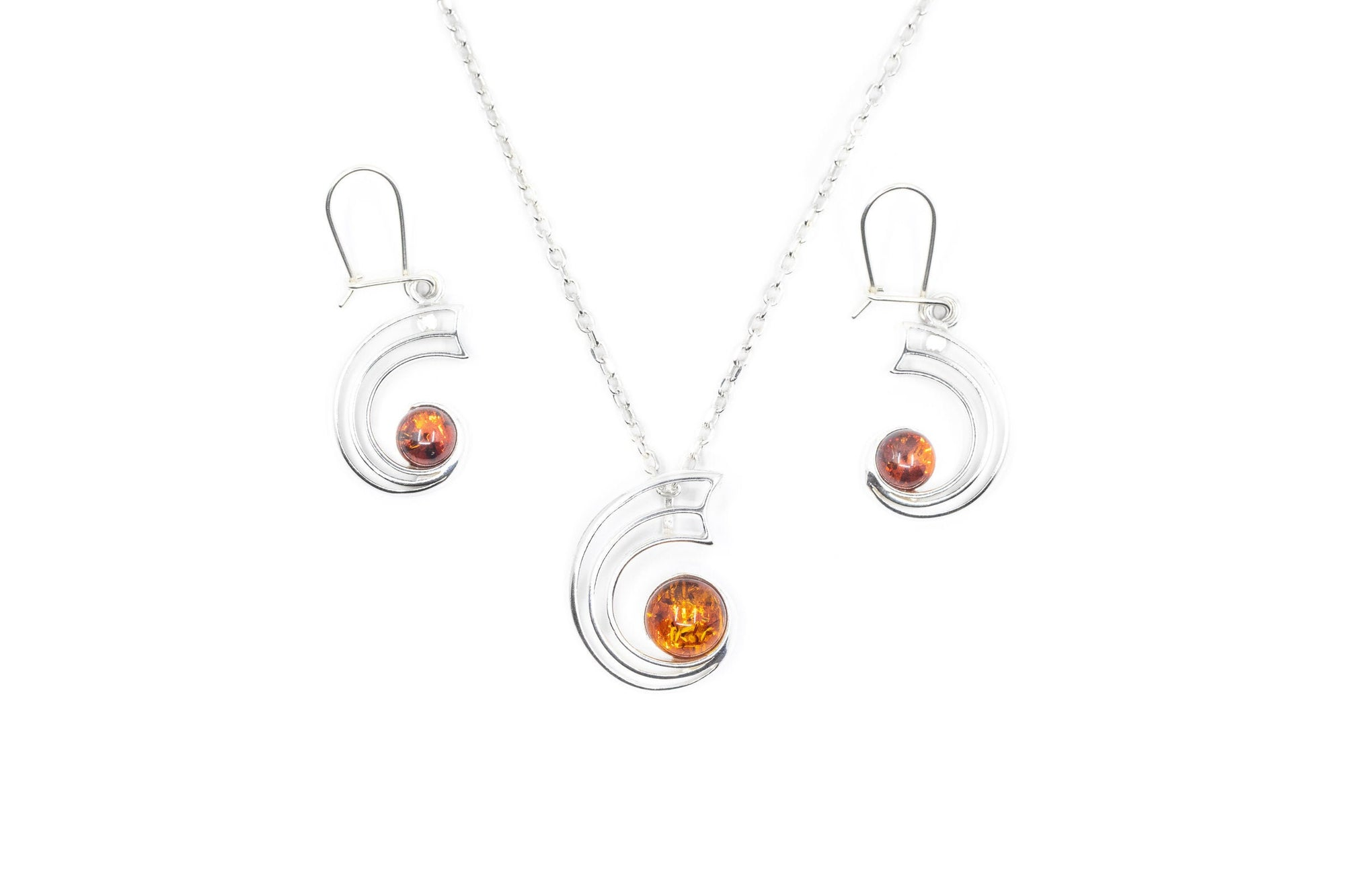 Orbit Amber Jewellery Set