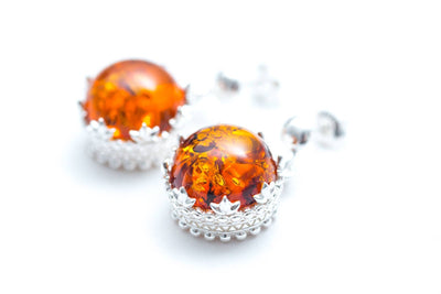 Princess Crown Amber Jewellery Set
