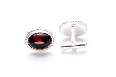 Quintessence Statement Red Amber Cufflinks