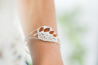 Silver Leaf Statement Arm Cuff