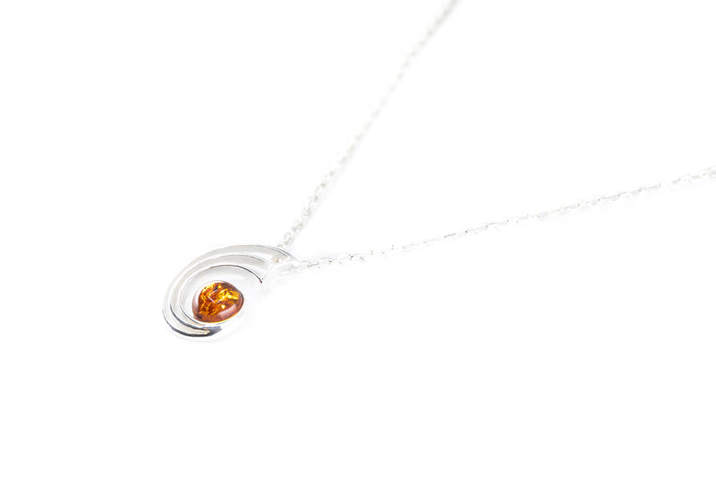 Amber Orbit Pendant