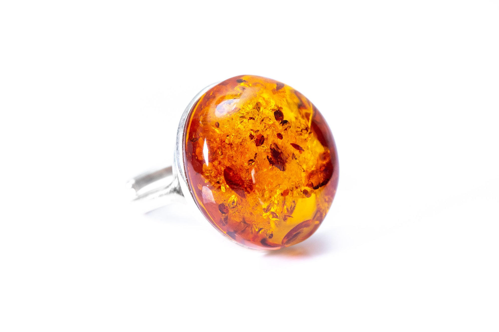 Big Amber Cocktail Ring