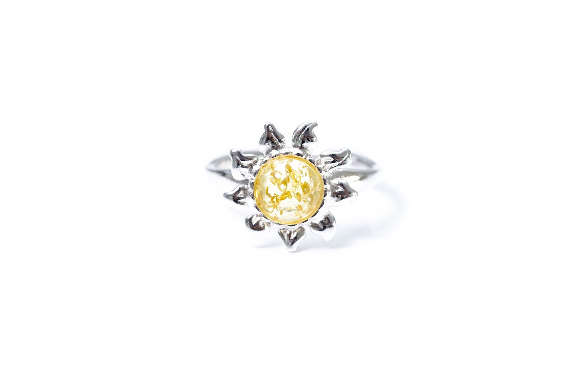 Citrus Yellow Amber Sun Ring
