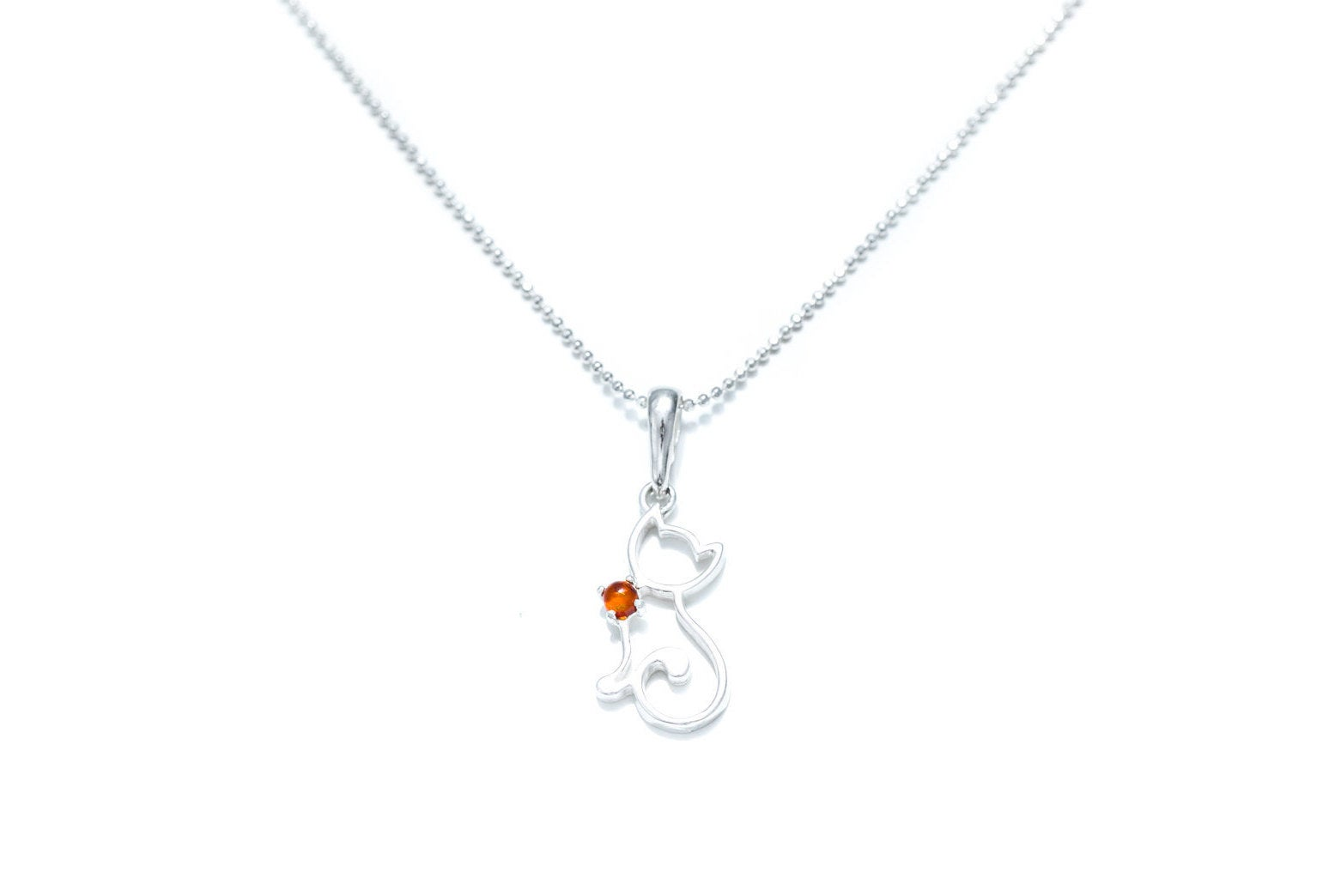 Dainty Cat Charm Necklace