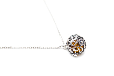 Silver Filigree Locket Necklace