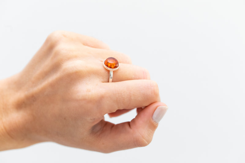 ESSENTIALS Amber Solitaire Ring