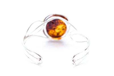 OOAK Cognac Amber Statement Bangle
