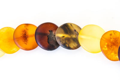 Multicolour Amber Disc Necklace