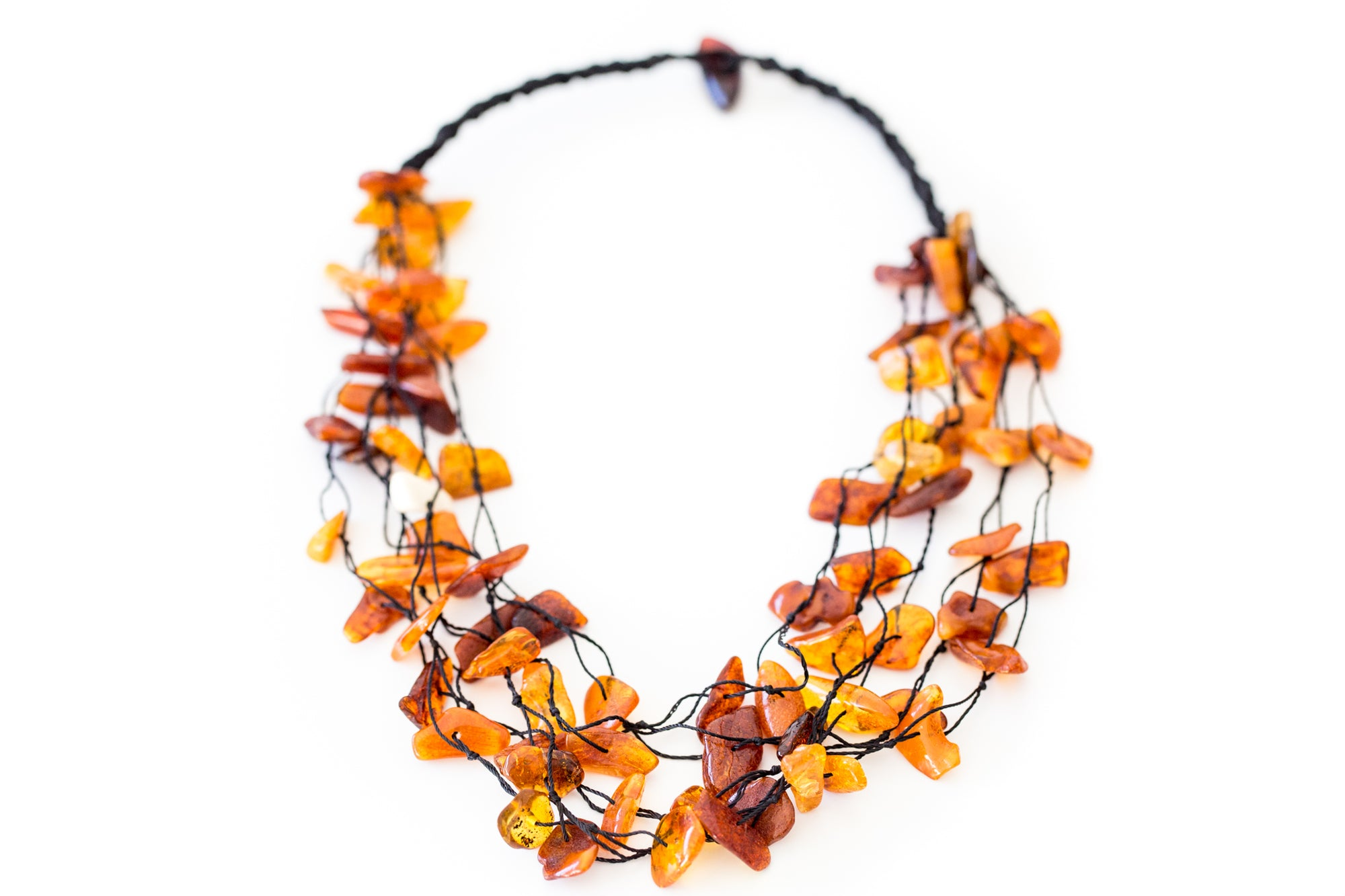 Multi Strand RAW Amber Necklace