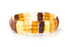Rectangle Bead Women's Amber Bracelet
