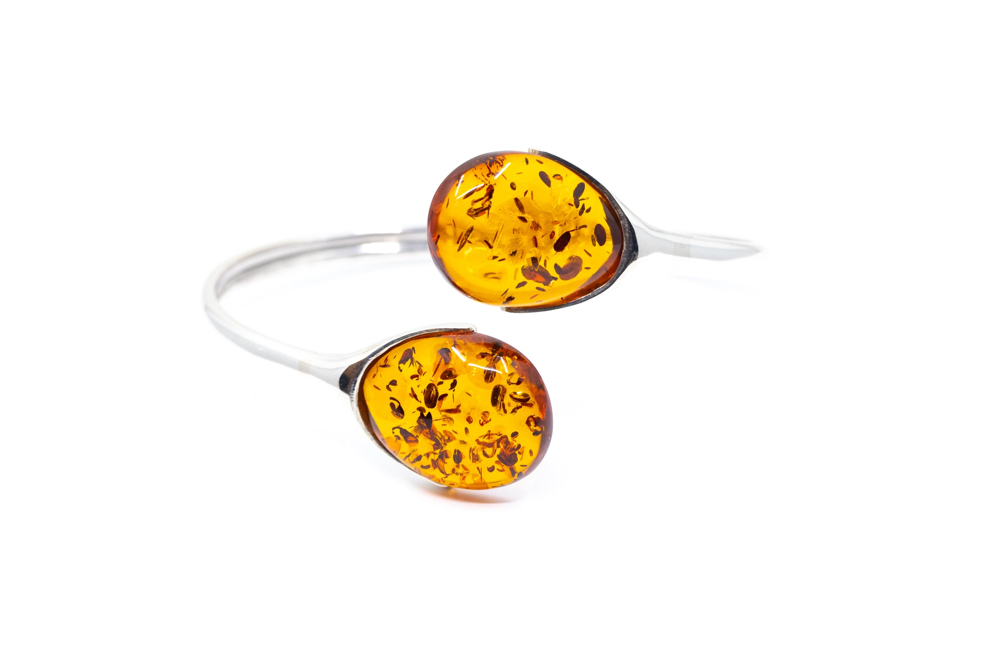 Statement Amber Torque Bangle