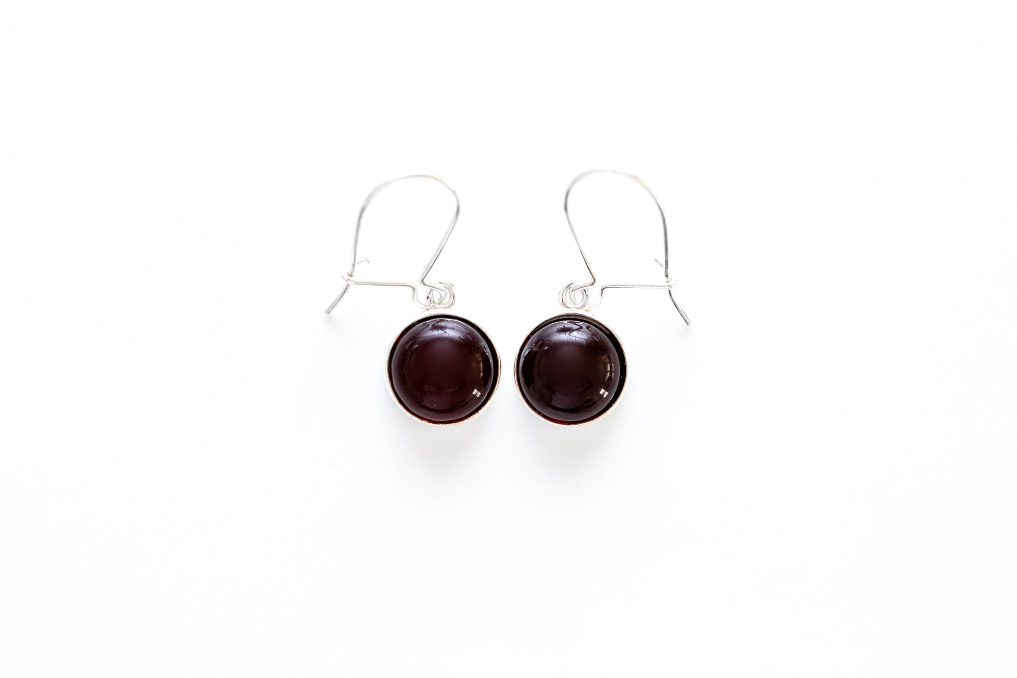 ESSENTIALS Cherry Red Amber Drop Earrings