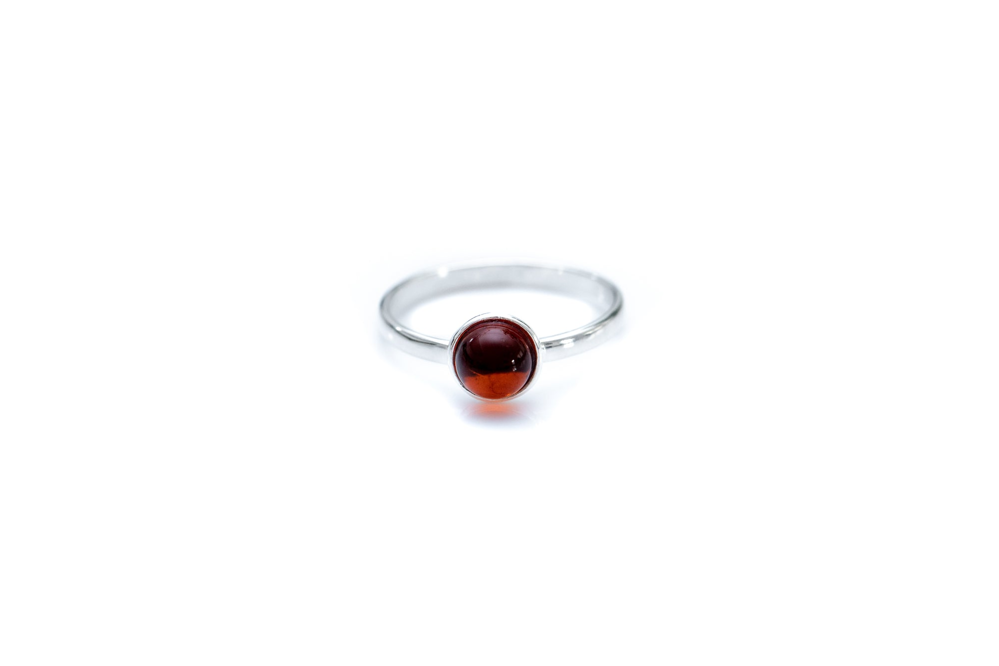 ESSENTIALS Mini Cherry Red Amber Stacking Ring