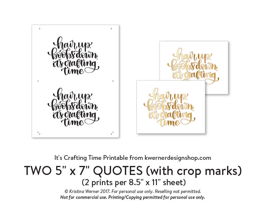 photo about Printable Quotes Pdf named Do-it-yourself Foil - Its Creating Season Printable PDF (8.5x11, 5x7, 4x6, and A2 playing cards)