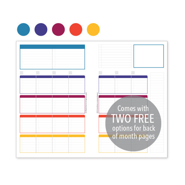PlanThis Week-on-2-Pages Planner Pages - Jewels (Half-Letter)