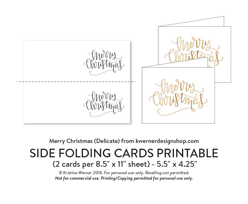 DIY Foil - Merry Christmas A2 Card (Delicate Version) – K Werner ...