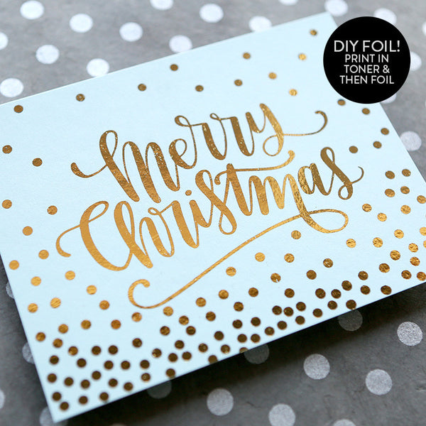Merry Christmas Dots A2 Card