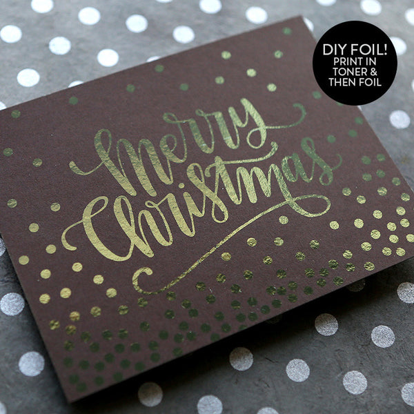 DIY Foil - Merry Christmas Dots A2 Card