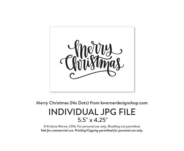 DIY Foil - Merry Christmas A2 Card (Regular No Dots Version)